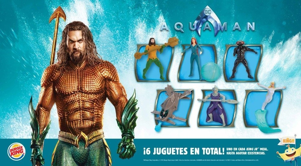 Aquaman juguetes burger king